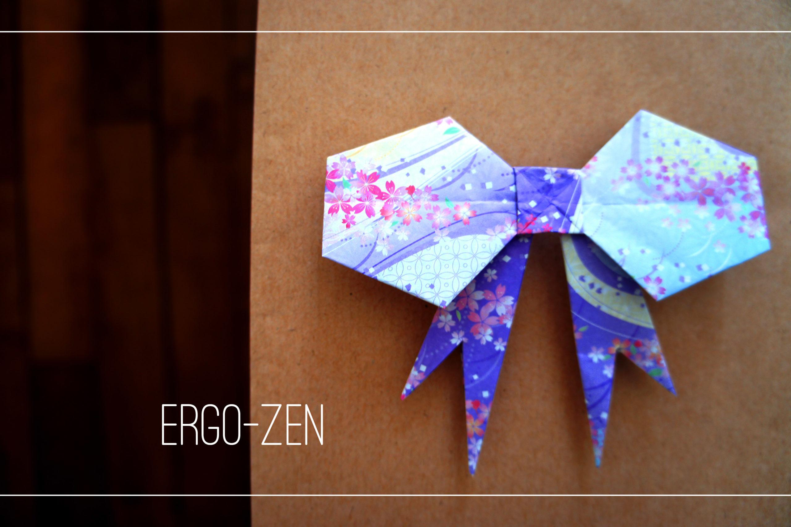 Noeud en papier, origami facile à faire