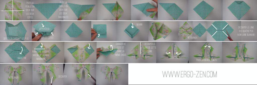 noeud en papier origami